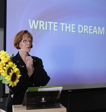 Florence Rita Rickards presenting